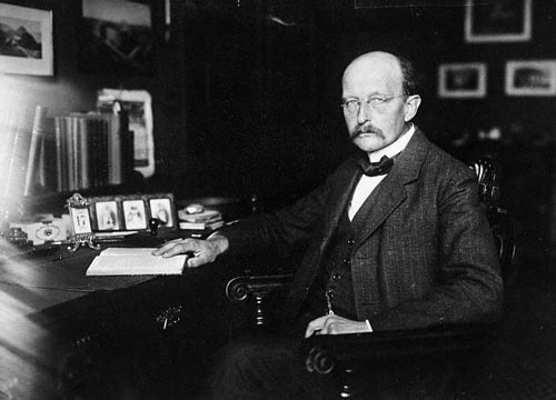 Prof. Planck Seated At His Desk